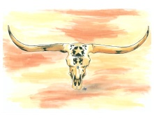 Web cow skull